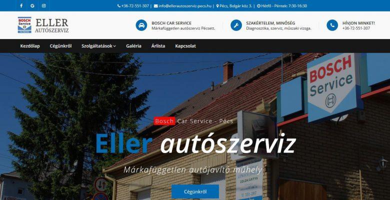A közel harminc éve működő pécsi autószerviznek készítettem modern, reszponzív honlapot. Egyedi kezdőlap, bemutatkozás, szolgáltatások ismertetése, blog, képgaléria. A honlap…