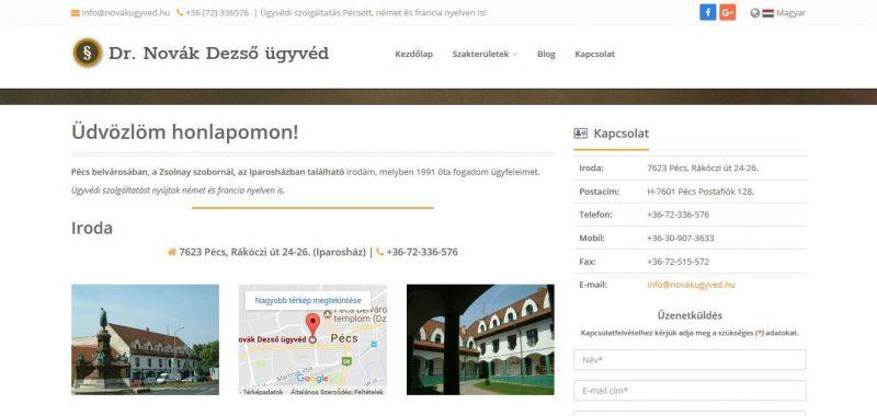 Informatív bemutatkozó honlap.