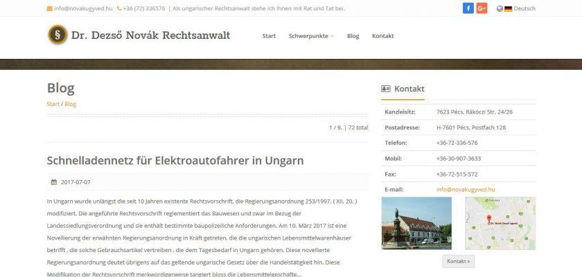 Többnyelvű honlap, bloggal.