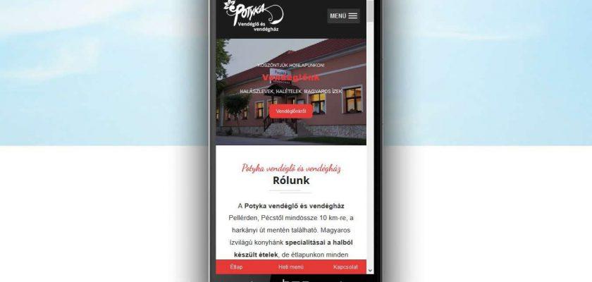 Mobilbarát, informatív honlap.