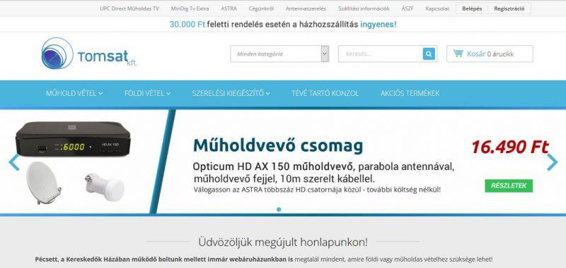 Mobilbarát webáruház.