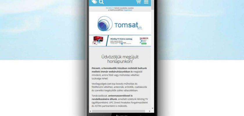 Mobilbarát, reszponzív webáruház - minden eszközön jól használható.